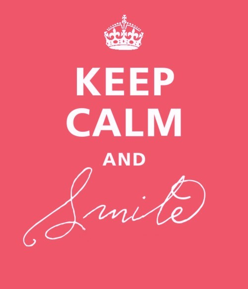 happiness, happy, keep calm, life, pink, pretty, smile