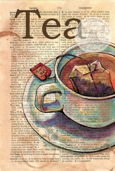 art, bag, cup of tea, dictionary, draw, drawing, drink, healthy, hot, illness, lexikon, love, paper, tea, tea bag, the little thing, warm, write