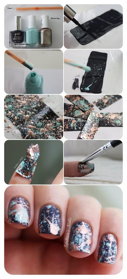 interesting, nail polish, nails, tutorial