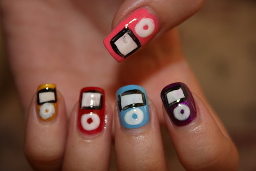 ipod, music, nails