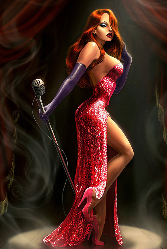 jessica rabbit, red, dress, hot, sexy