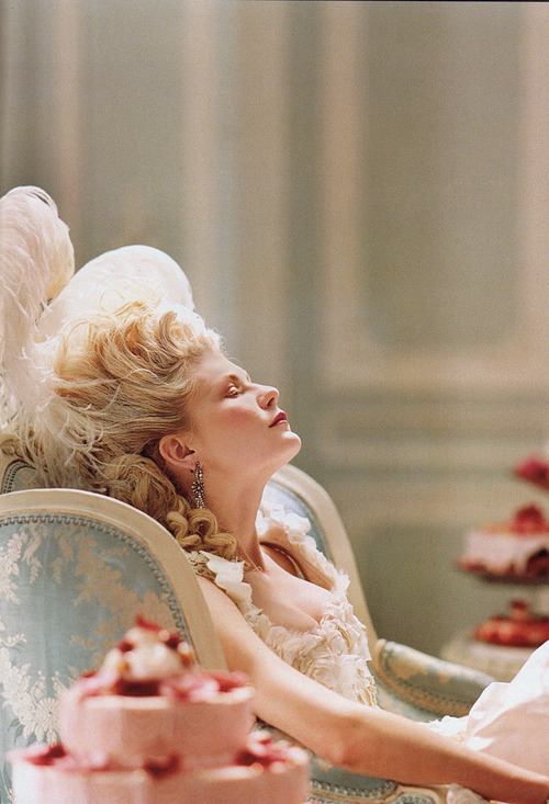 blonde, cupcakes, fashion, film, kirsten dunst, marie antoinette, model, movie, pastel, pretty, red hair, sexy, vintage