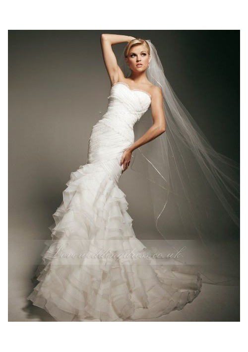 Lace Mermaid Wedding Dress Used : Lace mermaid sweetheart neckline fit and flare wedding dress