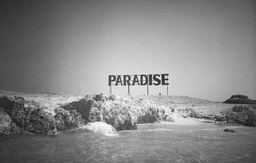 <3, beautiful, black, black and white, cool, paradise, photography, quotes, text, white, wonderland