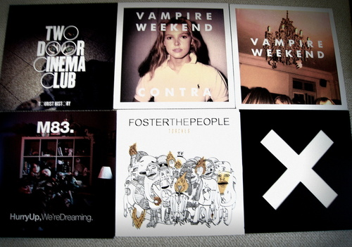 cd, cds, disco, dreams, fashion, foster the people, girl, hipster, m83, music, omg, perfect, the xx, two door cinema club, vimpire weekend