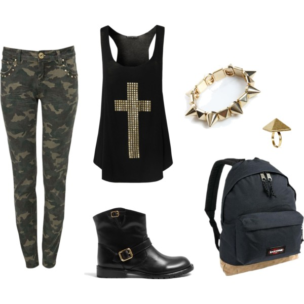 polyvore ankle boots army black image 626393 on