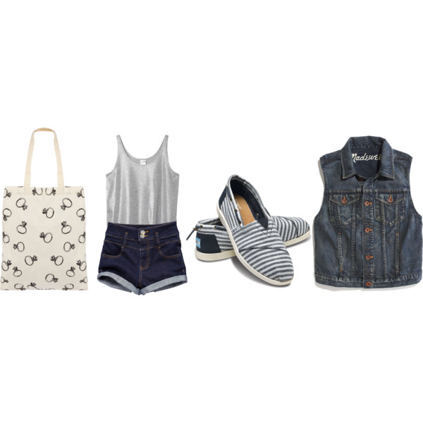 Casual cute fashion outfit polyvore pretty style