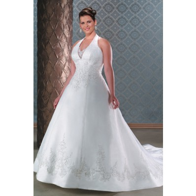 Halter Dress on Princess Halter Plus Size Wedding Dress   Inspiring Picture On Favim