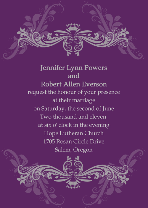 ... gorgeous purple theme 2013 invitationstyles wedding invitation cards