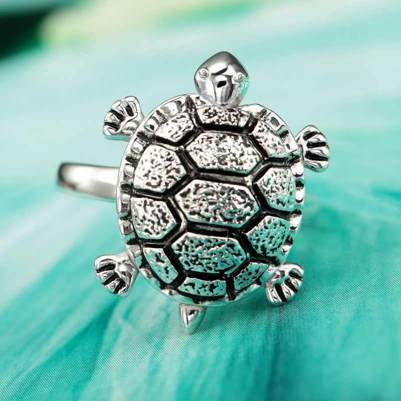 antique silver turtle rings, antique turtle rings, cocktail turtle rings and sea life ring