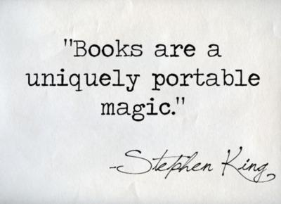 stephen king, books, magic, portable