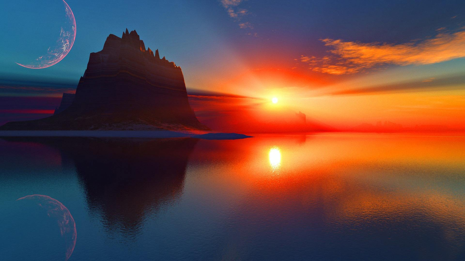 sunset, sunset 3d, sunset backgrounds and sunset hd