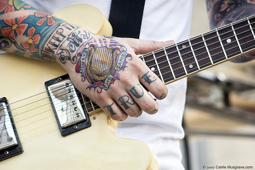 Tattoos electric guitar hand ink image 657057 on for Electric hand tattoo