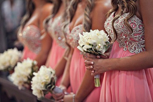 wedding, flower, girls, wedding dress, flowers
