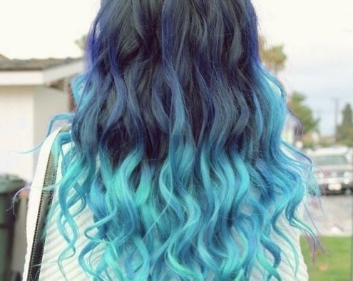 awesome, beautiful, blue, blue hair