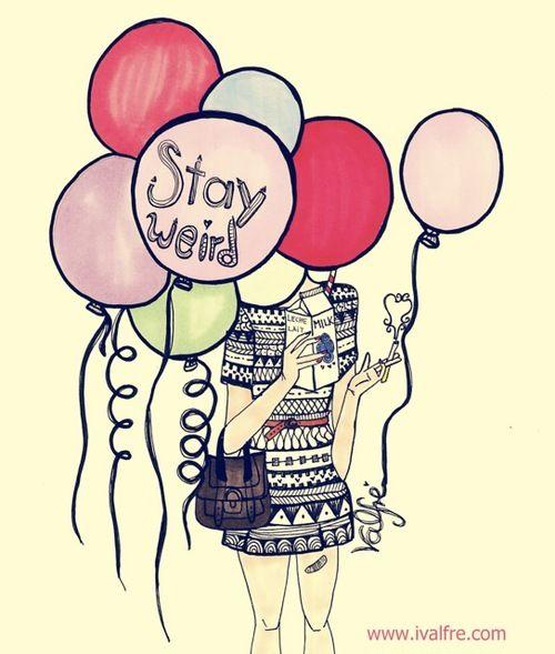 balloons, flower, girl, happy