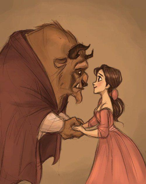 beauty and the beast cute drawing image 667111 on