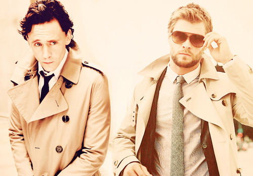 chris hemsworth, tom hiddleston - image #669502 on Favim.com