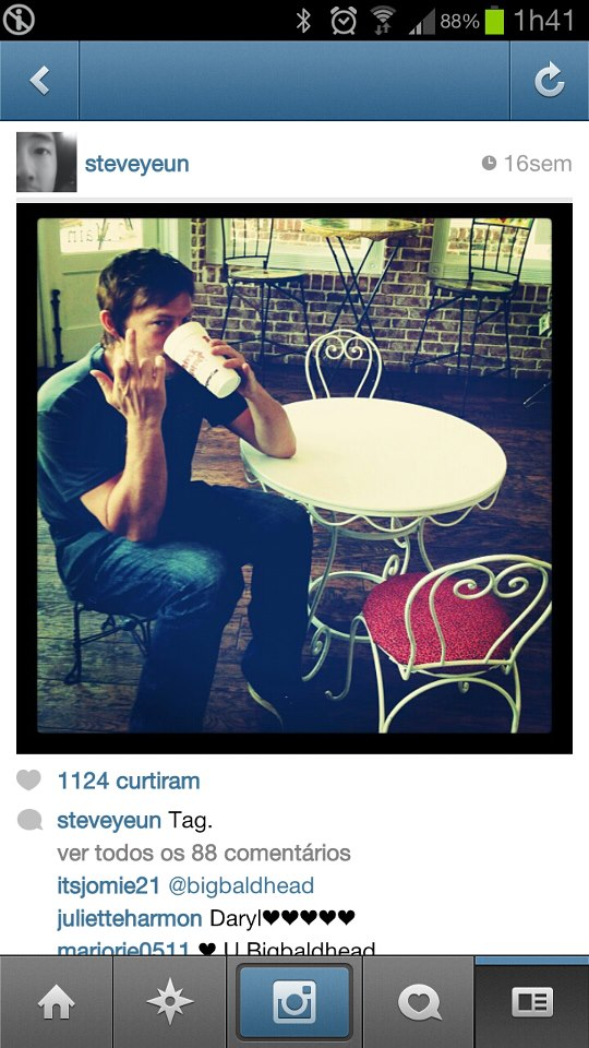 daryl dixon, instagram, norman reedus and the walking dead