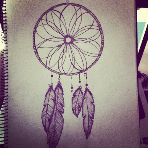 Dreamcatcher Drawing With Quote