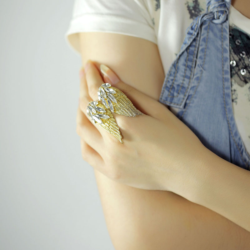 accessories, adjustable rings, angel wing cocktail rings and angel wing jewelries