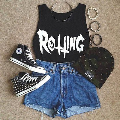 accessories, all stars, awesome, beautifull, black, camoflage, converse, cute, denim, denim shorts, fashion, grunge, hat, rolling, shorts, studs