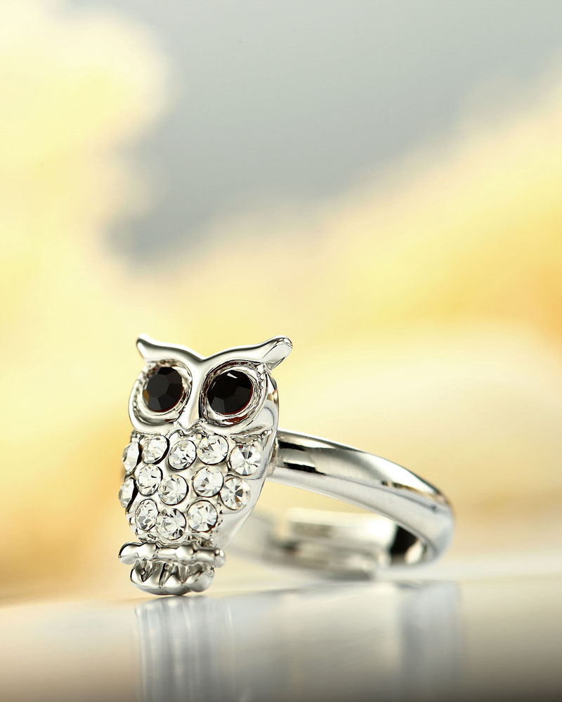 adjustable rings, animal rings, aowl pinky rings and cute