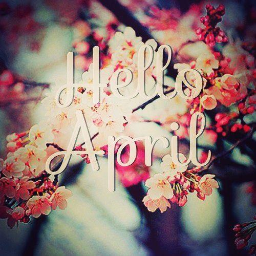 april, spring, welcome