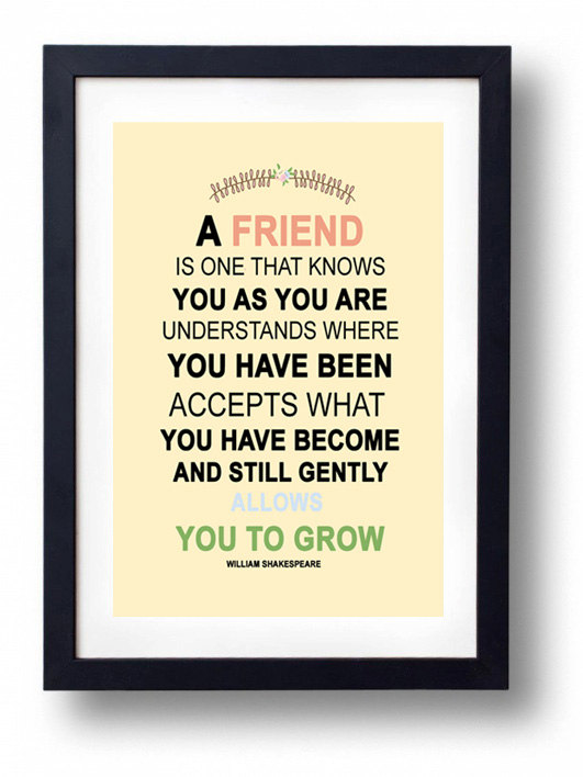 Quotes About Best Friends Gift : Art print friend friends quotes image on