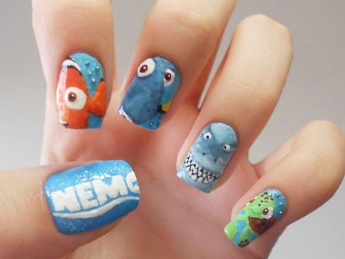 art, finding nemo, nails
