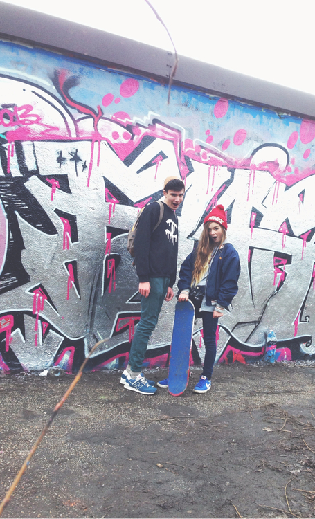 awesome, best friends, bf, bff, boyfriend, couple, cute, cute couple, forever, friends, friendship, gf, girlfriend, graffiti, just friends, nothing, skate, whatever