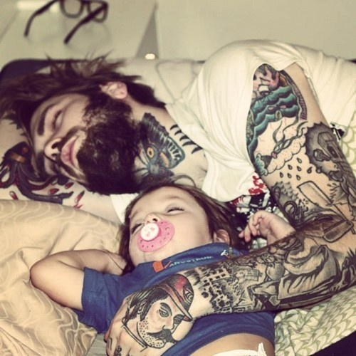 Baby bart cute dad image 759860 on for Baby tattoos for dads