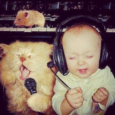 baby, cat, friends, kid, lol, music