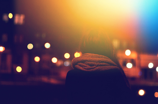 back, bokeh, city, cold