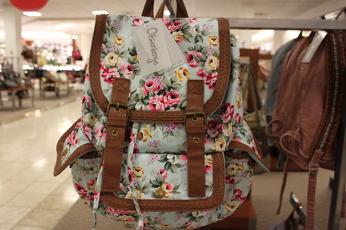 bag, blue, brown, cute, fashion, floral, flowers, hipster, image, indie, kawaii, nice, photo, photography, picture, pretty, style, sweet, vintage