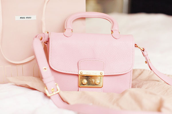 bags, fashion, girly, handbag, miu miu, miumiu, pastel, pink, pretty, purse, satchel