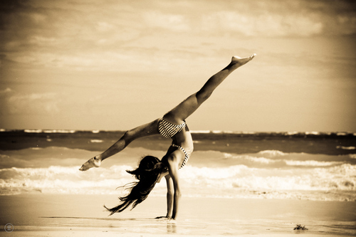 ballerina, ballet, beach, beautiful