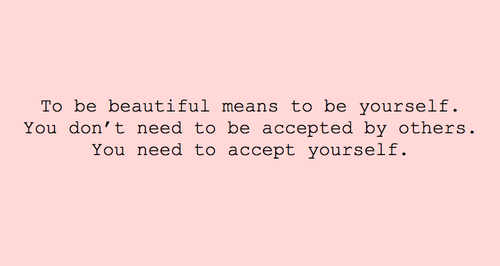 be yourself, beautiful, pink, inspiring, text - image ...