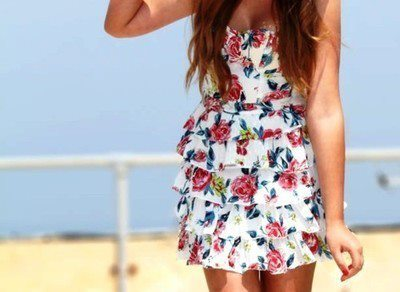 beach, cute, dress, flower - image #758752 on Favim.com