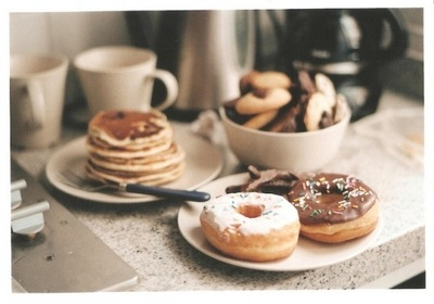 beautiful, breakfast, candy, coffe, donut, donuts, eat, food, milk, morning, nice, shoko, sweet