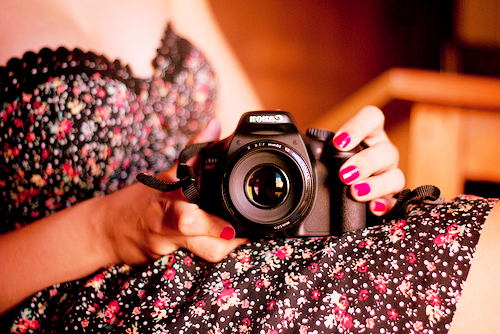 beautiful, camera, cute, girl
