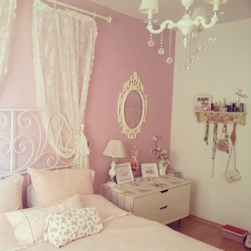Bedroom girly blonde pink cute image 783328 on for Pretty decorations for bedrooms