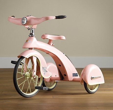 bike, cute, pastel, pink, toy, vintage