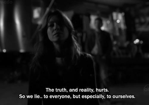 black and white, break, cry, dark, everyone, greys anatomy, heartbreak, hurts, lie, quote, reality, tears, truth, why