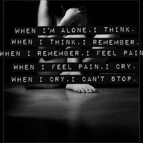 All Alone Sad Quotes: Black And White Quotes About Depression. QuotesGram