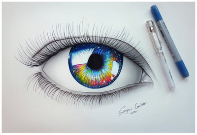 Eyes Blue Drawing Cool Drawings of Eyes With