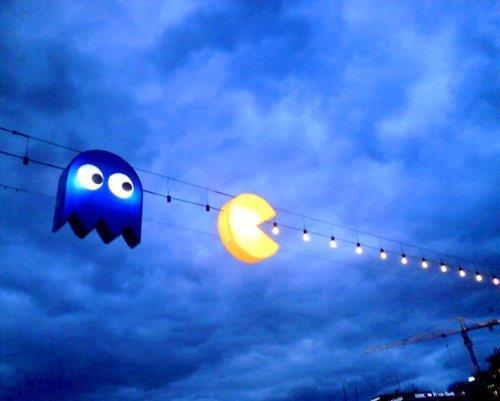 blaze, blue, boy, cool, funny, hello, high, home, lights, pacman, photo, photography, sky, trippy, tumblr, vintage, wow, yellow