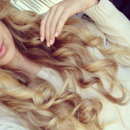 blonde, curly hair, hair, long hair - image #756256 on ...