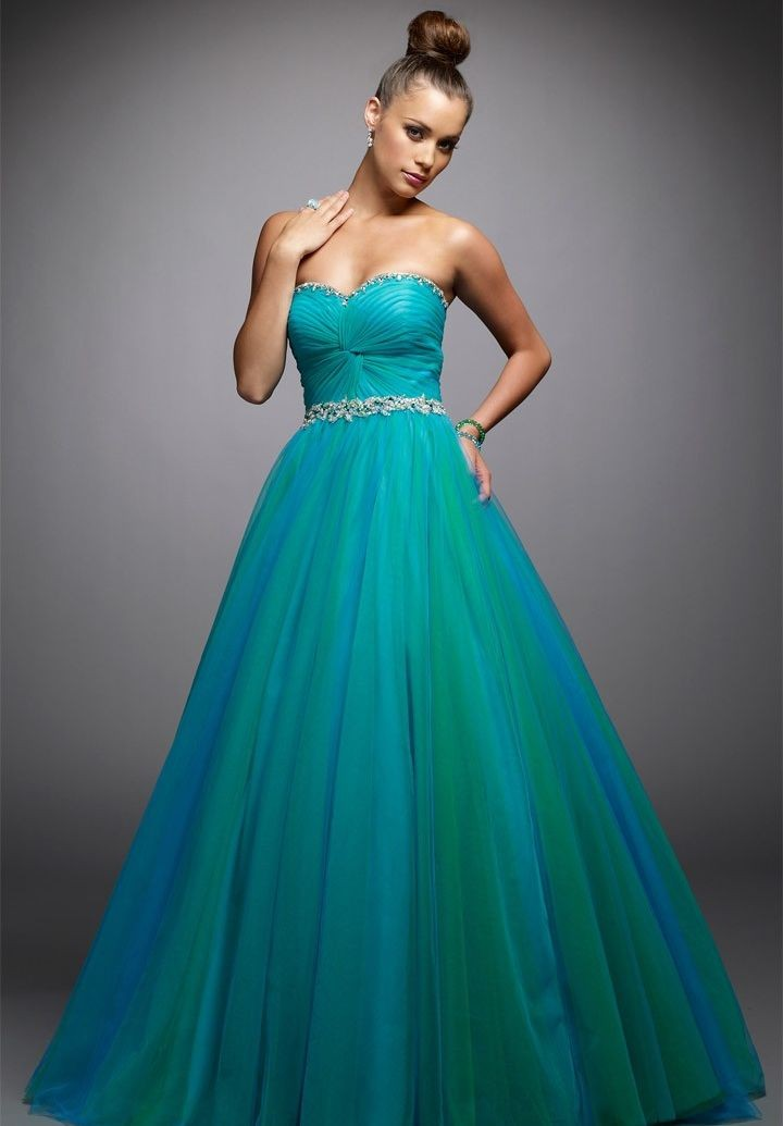 ball gown, blue, evening dress and fashion
