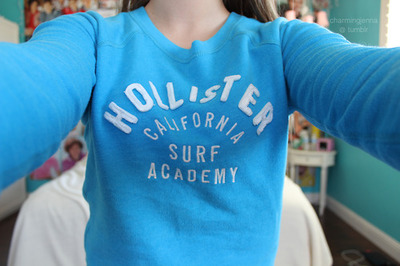 blue, crewneck, cute, girl, hollister, quality, sweater, tumblr